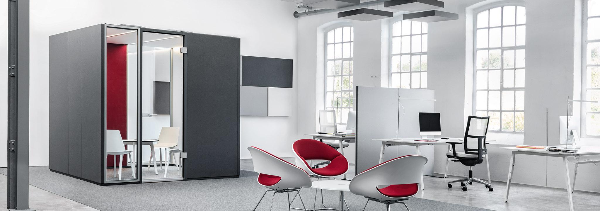 Akustik im Büro: Lösungen gegen Lärm und Hall findet ALLTEC Bürokonzept